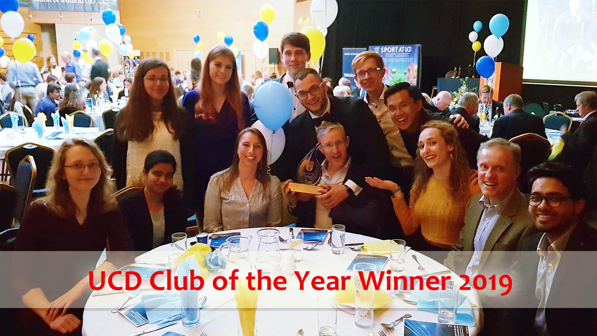 UCD Club of the Year Winner 2019 - UCD Karate