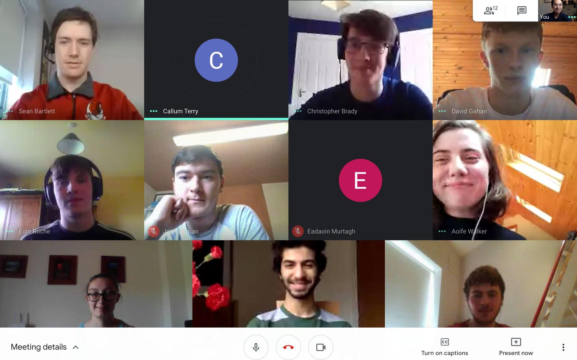 UCD Karate 2020 Committee Meeting through Google Meet